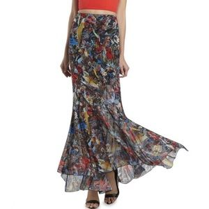 Alice + Olivia Paige Menagerie Floral Maxi Skirt 8